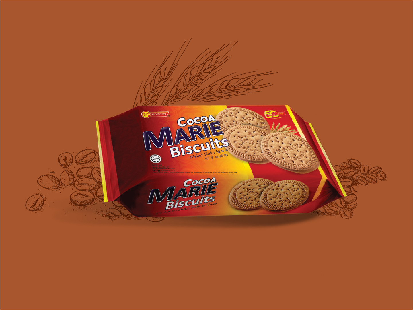 Shoon Fatt Cocoa Marie Biscuits